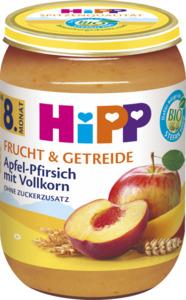 HiPP Bio Frucht und Getreide Apfel-Pfirsich mit Vollkorn