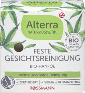 Alterra NATURKOSMETIK Feste Gesichtsreinigung Bio-Hanföl