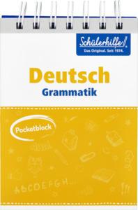 IDEENWELT Schülerhilfe Pocketblock Deutsch Grammatik