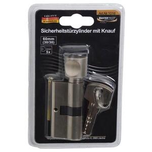 Schließzylinder Profilzylinder 60mm 30/30 Knauf 5Schlüssel