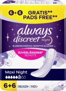 Always Always Discreet Inkontinenz Maxi Night