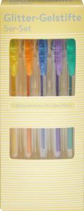 IDEENWELT 5er-Set Glitter-Gelstifte