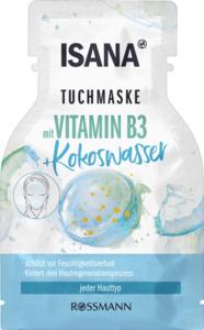 ISANA Tuchmaske mit Vitamin B3 + Kokoswasser