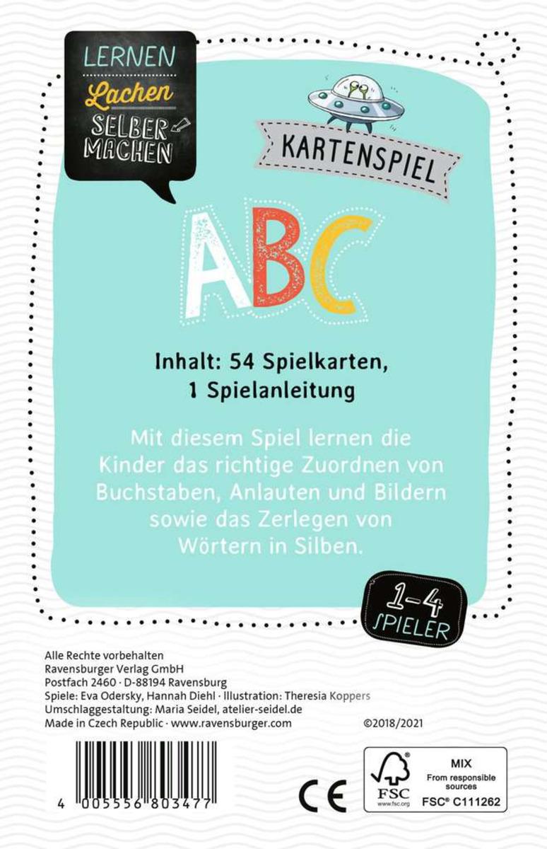 Bild 2 von Ravensburger 80347 Lernen Lachen Selbermachen ABC - Kartenspiel