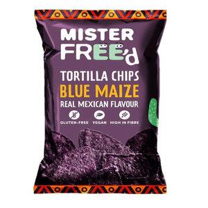Mister Freed Chips Tortilla Vegan Blue Maize 135 g