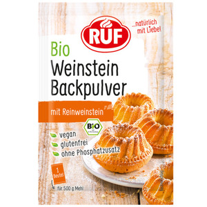 RUF Backpulver Weinstein Bio 3x 20 g