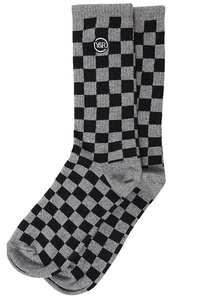Young and Reckless Checkers - Socken für Herren - Grau