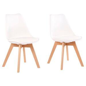 LIVING STYLE Design-Stühle, 2 Stück, Weiß