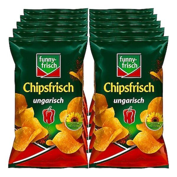 Funny Frisch Chipsfrisch ungarisch 175 g, 10er Pack