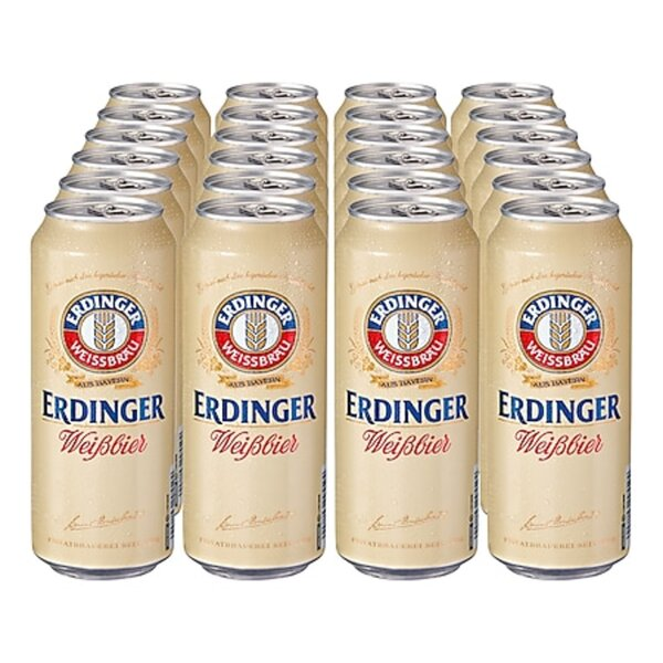 Erdinger Weißbier 5,3 % vol 0,5 Liter Dose, 24er Pack