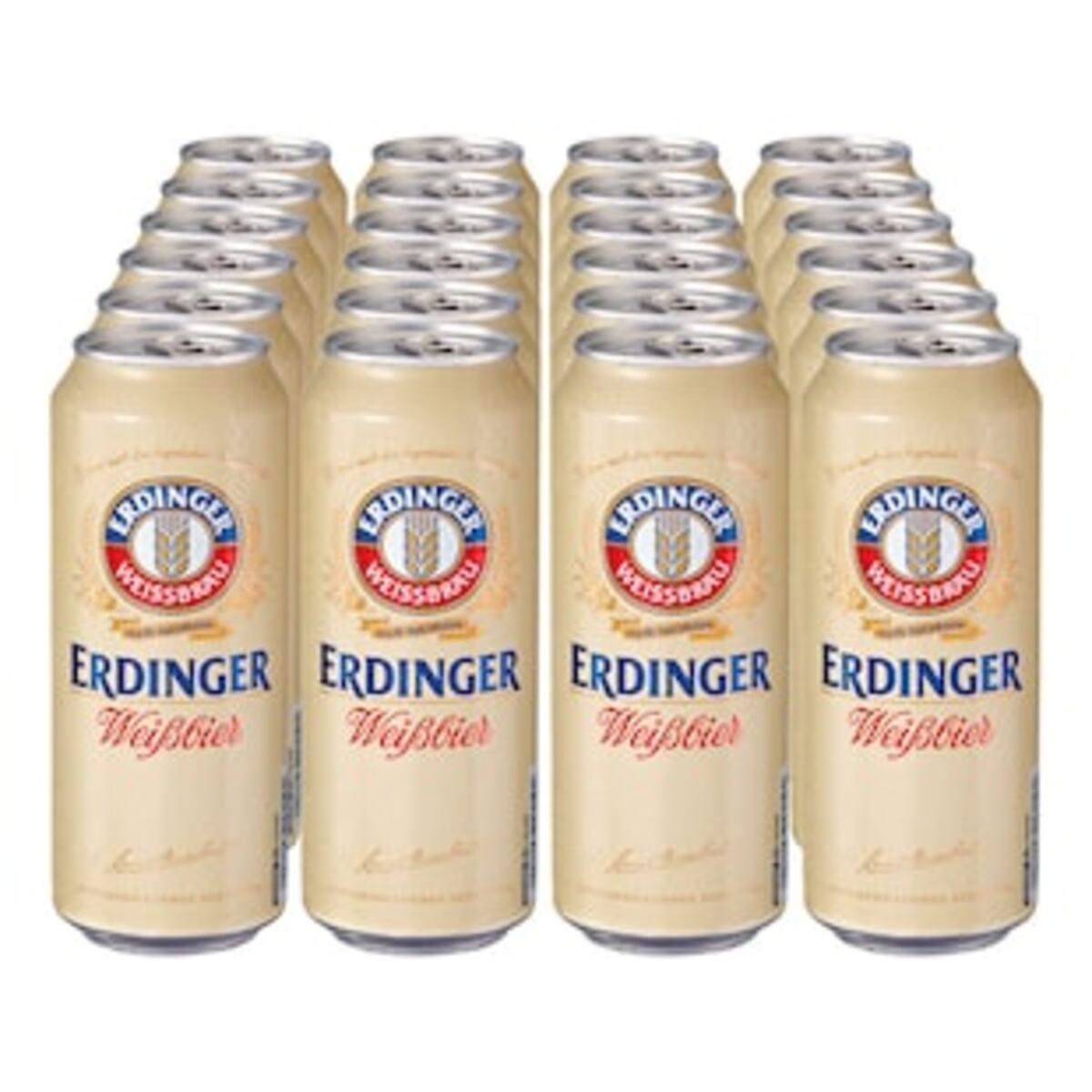 Bild 2 von Erdinger Weißbier 5,3 % vol 0,5 Liter Dose, 24er Pack