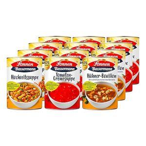 Sonnen Bassermann Suppen 400 ml, verschiedene Sorten, 12er Pack