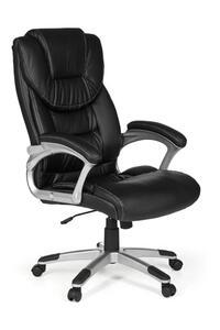 AMSTYLE Bürostuhl MADRID Kunstleder Schwarz ergonomisch mit Kopfstütze   Design Chefsessel Schreibtischstuhl mit Wippfunktion   Drehstuhl hohe Rücken-Lehne X-XL 120 kg