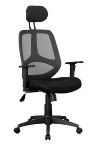 AMSTYLE Bürostuhl SPM1.206 Stoffbezug Schreibtischstuhl 120 kg Armlehne schwarz Chefsessel Drehstuhl Kopfstütze X-XL