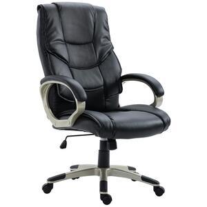 HOMCOM Bürosessel Chefsessel mit Wippfunktion Bürostuhl Drehstuhl Stuhl Schreibtischstuhl Sessel Büro
