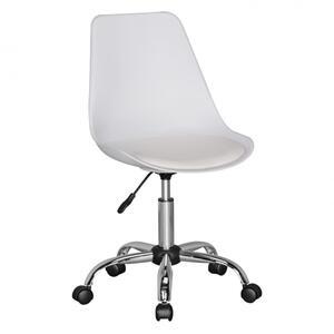 AMSTYLE KORSIKA   Drehstuhl Kunstleder Weiß   Drehsessel Wartezimmerstuhl   Schreibtischstuhl Rückenlehne verstellbar