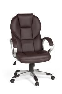 AMSTYLE Bürostuhl Matera Bezug Kunstleder Braun Schreibtischstuhl Design Chefsessel Drehstuhl mit XXL Polsterung 120kg