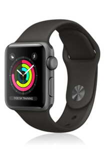 Apple Watch Series 3 Aluminium Space-Grey Black, Sportarmband, MTF32ZD/A, 42mm