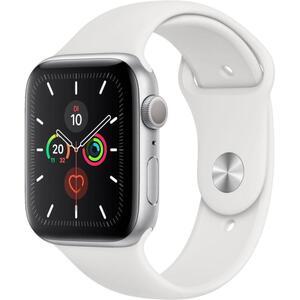 Apple Watch Series 5 44mm Alu Case silver Sportband, Farbe:Weiß