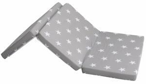 roba Kinder-Reisefaltmatratze Little Stars 60 x 120 cm, grau