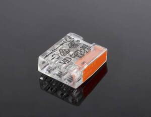 Steckklemmen Mikro, 100 Stk., 5 x 0,5 - 2,5 mm², transparent