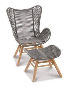 BEST Relax Lounge Sessel Asmara Grandis/grau, 52630067 braun