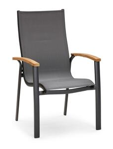 Best Stapelsessel Cavalese H 102 x B 64 x T 68 cm, Sitztiefe 47 cm, Farbe Anthrazit