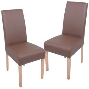 Harms Sessel NOAH, Kunstleder Soft, braun, 2er Set; 304548