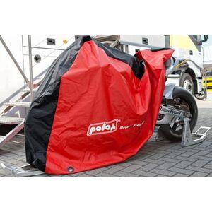 POLO Outdoor Motorrad Abdeckplane rot/schwarz Größe M = 250/150/64cm