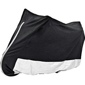 POLO Outdoor Motorrad Abdeckplane mit Fenster schwarz/silber Größe L