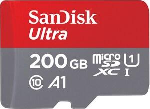 microSDXC Ultra A1 (200GB) Speicherkarte + Adapter
