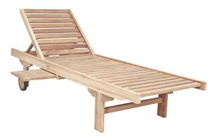 Garden Pleasure Teak Sonnenliege Solo Gartenliege Relaxliege Garten Holz Liege