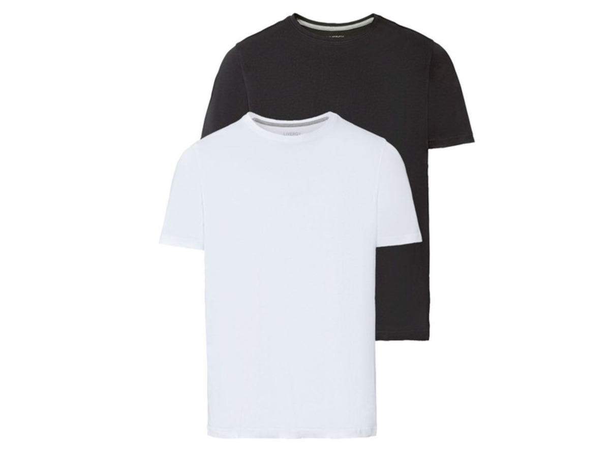 Bild 1 von LIVERGY® T-Shirts Herren, 2 Stück, mit Baumwolle