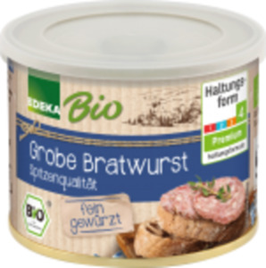 EDEKA Bio Leberwurst, Bierschinken oder Bratwurst