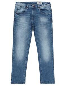 Herren Straight Fit Jeans im Bleached Look