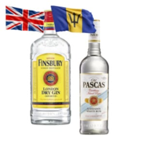 Old Pascas Barbados Rum oder Finsbury Dry Gin