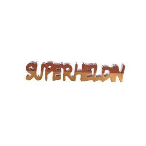 Schriftzug, Superheldin