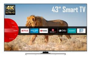 """JVC LED-Fernseher »LT-43VU8055«, 108 cm/43 """", 4K Ultra HD, Smart-TV"""