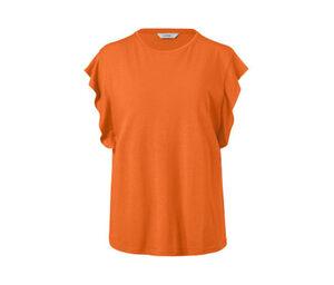 Shirt mit Volant, orange