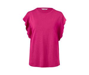Shirt mit Volant, pink