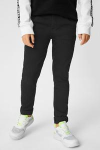 C&A Super Skinny Jeans-Bio-Baumwolle, Schwarz, Größe: 140