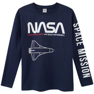 NASA Langarmshirt mit Schriftzug