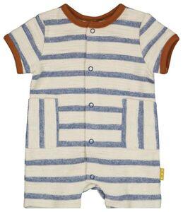 HEMA Newborn-Jumpsuit, Streifen Weiß