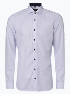 Eterna Slim Fit Herren Hemd - Bügelfrei blau Gr. 38