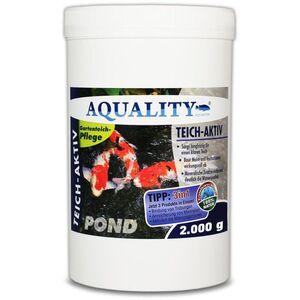 Gartenteich Teich-Aktiv 3in1 (Langfristig klarer Gartenteich - baut Mulm und Teichschlamm ab - verbessert deutlich die Wasserqualität) 2 kg - Aquality