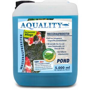 Gartenteich 3in1 Wasseraufbereiter (Macht aus Leitungswasser fischgerechtes Teichwasser - Mit Aloe Vera, Vitamine - Schleimhautschutz) 5 Liter