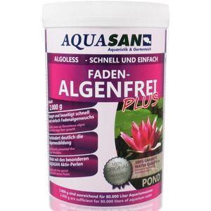 AQUASAN Gartenteich ALGOLESS Faden-Algenfrei PLUS (Beseitigt schnell und stoppt Fadenalgen im Teich. Der Fadenalgen-Entferner, Fadenalgen-Vernichter,