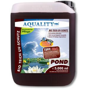 AQUALITY BIO Gartenteich UV-Schutz (Beugt Algenwachstum vor und sorgt bei starker Sonne für eine angenehmere Umgebung im Teich - wirkt wie ein