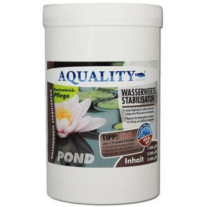 Gartenteich Wasserwerte Stabilisator 3in1 (Artgerechte Wasserwerte im Gartenteich - Reguliert langfristig die Karbonathärte, stabilisiert den