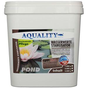 AQUALITY Gartenteich Wasserwerte Stabilisator 3in1 (Artgerechte Wasserwerte im Gartenteich - Reguliert langfristig die Karbonathärte, stabilisiert